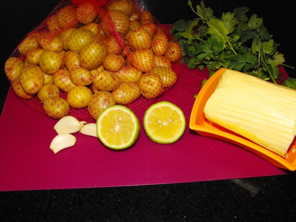 steamed potato all